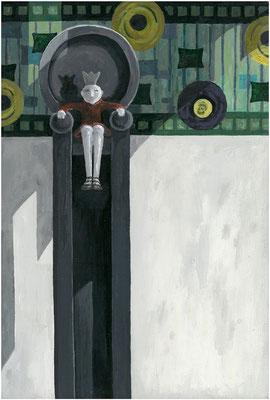 Königin -  27 x 43 cm  - Acryl auf Leinwand - 2014