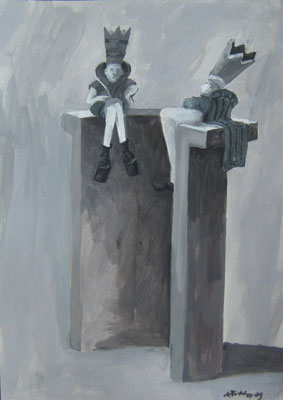 Paar - 30 x 21 cm - Acryl auf Papier - 2009