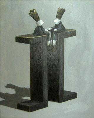 Dialog - 24 x 30 cm-  Acryl auf Leinwand -  2010
