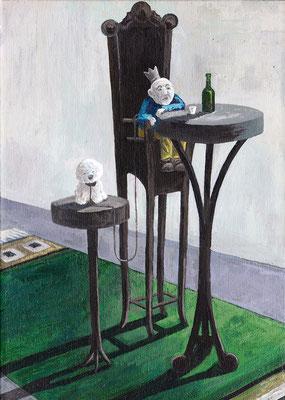 Alleinherrscher - 36 x 24 cm - Acryl auf Leinwand - 2015