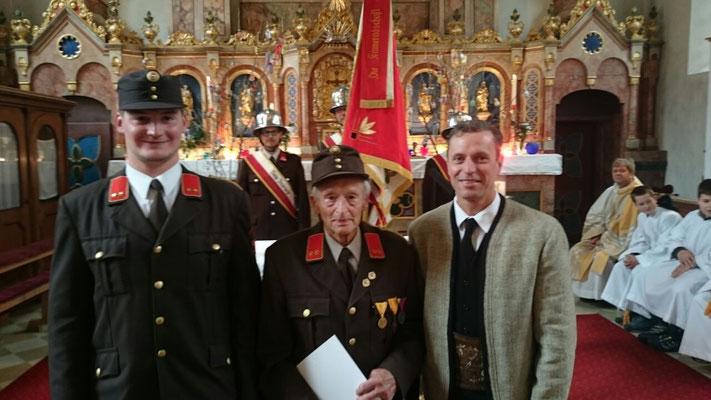 70 Jahre im Dienst der FFGinzling-Dornauberg! - Altkommandant Klausner Wilhelm.