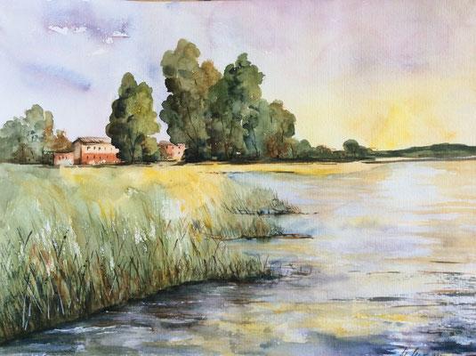 Flusslandschaft   30x40