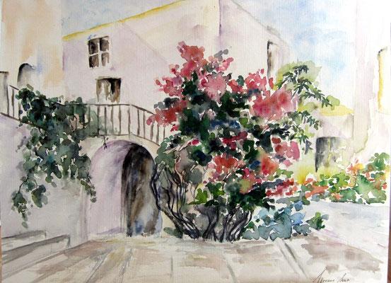 Haus mit Garten 40x30