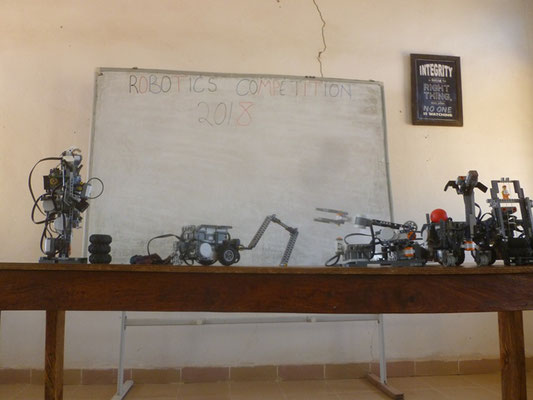 Robots Built by Nigerian Highschoolers for the Competition