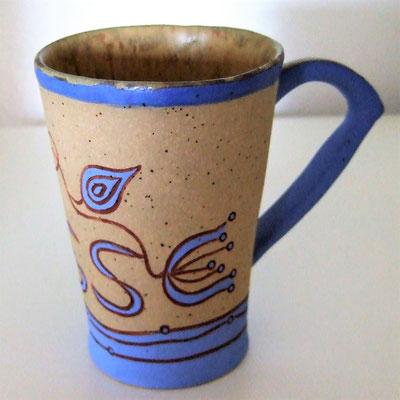 """Namenstasse """"Jesse"""", geritzt, engobiert und glasiert;  lovely-cera ~ schöne Keramik-Kunst Nürnberg"""