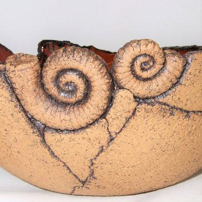 """große Keramik-Obstschale """"Ammonit""""; lovely-cera ~ schöne Keramikkunst Ludwigsstadt"""