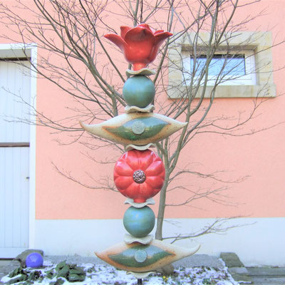 Keramik-Gartenstele; Keramikatelier lovely-cera  ~ schöne Keramik-Kunst