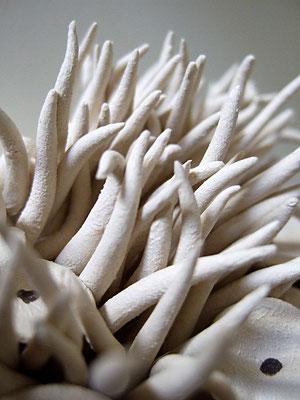 "Keramik-Kunstobjekt ""weisses Riff"", Detailbild;   lovely-cera ~ schöne Keramik-Kunst Nürnberg"
