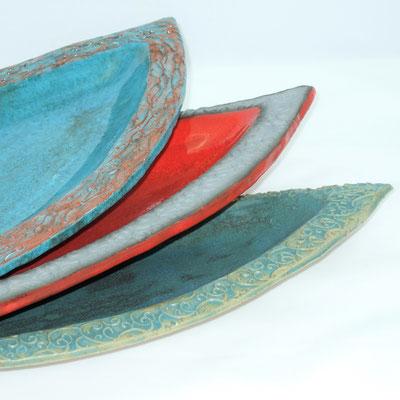 Schiffsschalen;  lovely-cera ~ schöne Keramik-Kunst