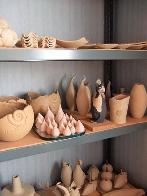Grünware; Keramikatelier lovely-cera ~ schöne Keramikkunst Ludwigsstadt