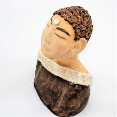 Keramik-Buddha der Verschmitzte;  lovely-cera ~ schöne Keramik-Kunst Nürnberg