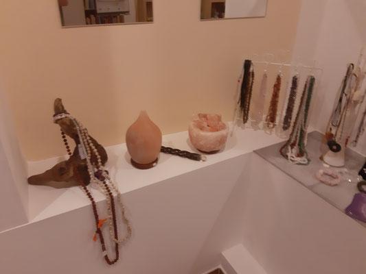Salzkristall-Leuchten, Mala, Ketten uvm