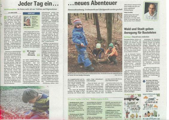 """Zeitungsspezial """"Lebenswert!"""" Fränkische Nachrichten 4/2016"""