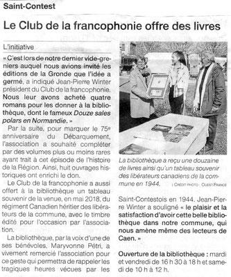 Ouest-France du 10 avril 2019