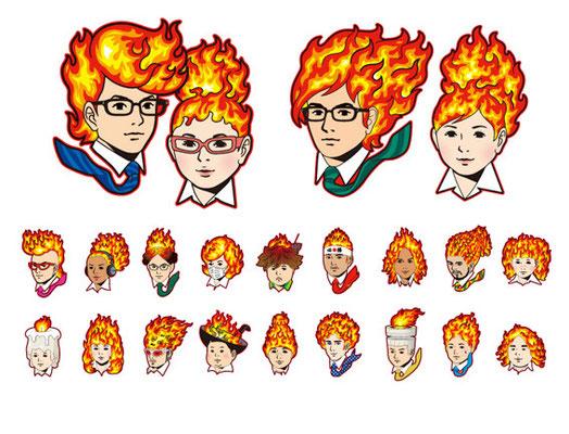 日経ナビ「就活に燃える」/Advertisement / Design, Character