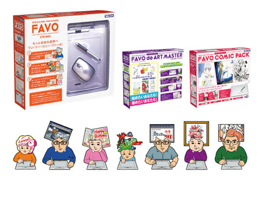 Wacom「FAVO」/ad・Package / Character