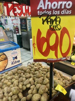 heute sind die Kartoffeln im Angebot