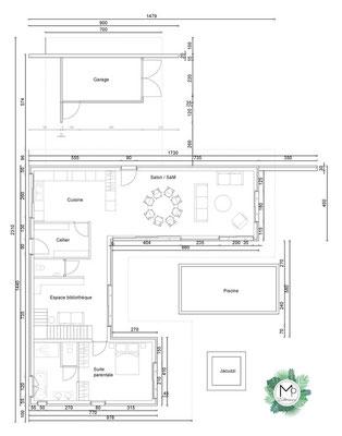 Plans de maison par MP intérieurs, Architecte d'intérieur UFDI sur Bordeaux et sa région (33).
