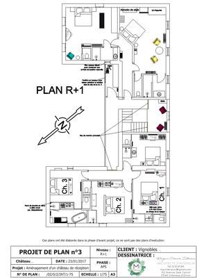 Proposition de plans par MP intérieurs, Architecte d'intérieur UFDI sur Bordeaux et en Gironde (33).