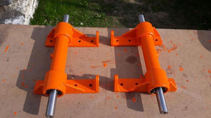 Die beiden Achsen für eine Spurweite von 300 mm.