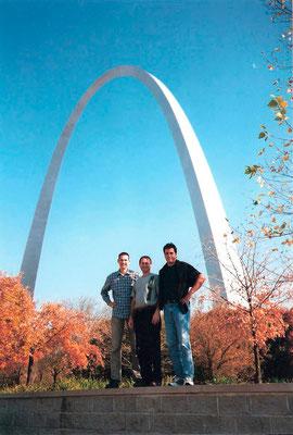 Mit Bill Molenhof und Tobias Kalisch in St. Louis