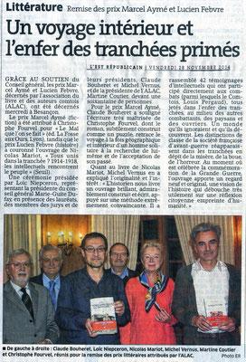 L'Est Républicain 28/11/2014