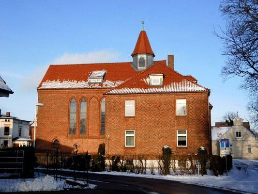 Pfarrhaus und Pfarrkirche in Barth