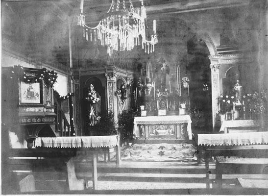 Inneres der Rosenkranzkapelle um 1925