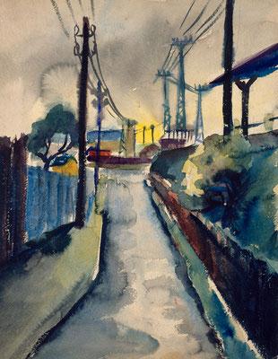 Neben dem Bahngelände (1930)