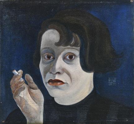 Selbstbildnis mit Zigarette (1931)