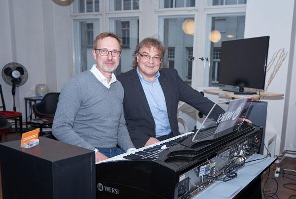 Ulrich Wildhack und Stefan Baumgarth in ihrem Element. WERSI Leipzig - Stefan Baumgarth, 19.10.2018. Foto: Robert Soujon.