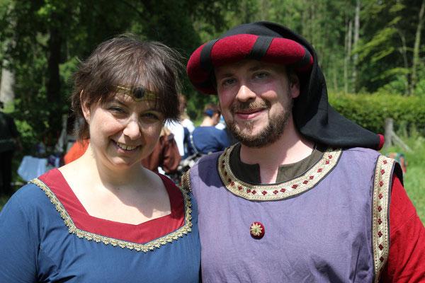 Mein Partner Andreas und ich nach der Zeremonie: erleichtert!