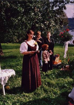 Mein erstes Hochzeitsritual in der Natur - vor vielen Jahren...