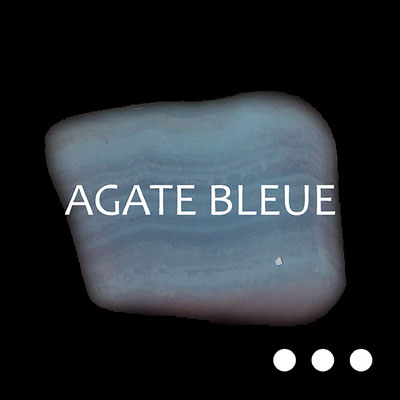 Agate Calcédoine Bleue