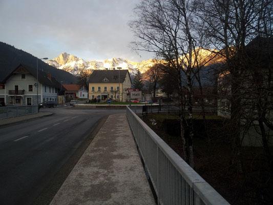 Brücke beim Ausstieg