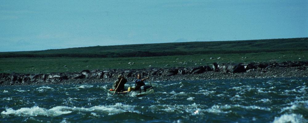 immer häufiger Eisreste am Ufer (Mit Staubschicht kaum zu erkennen)
