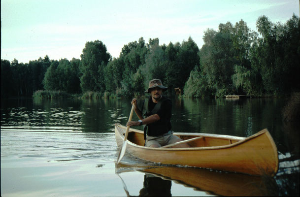 Testfahrt auf einem See