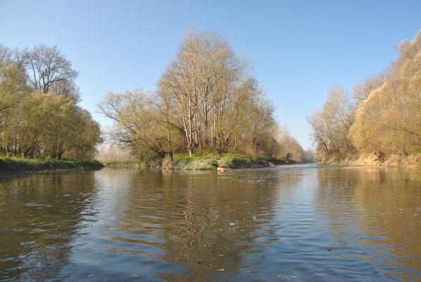 Mündung der Aschach in den Innbach