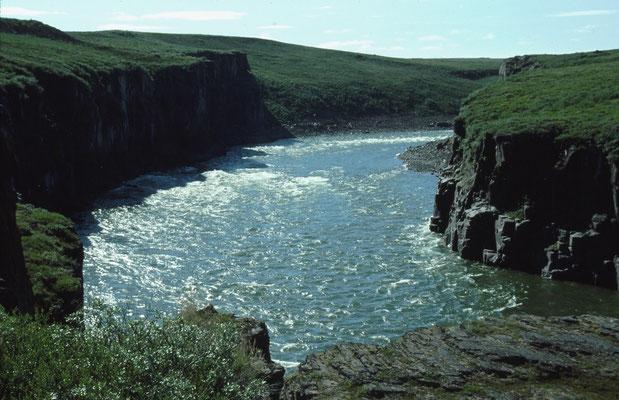 Portage am rechten Ufer