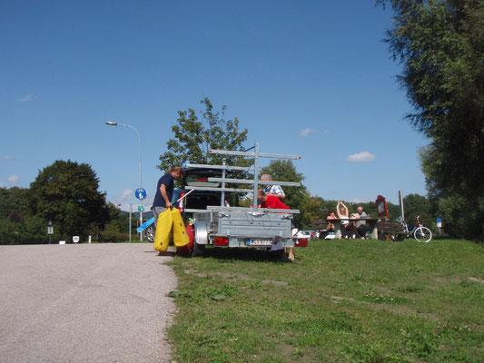Ankunft unterhalb des Kraftwerks bei Emmersdorf