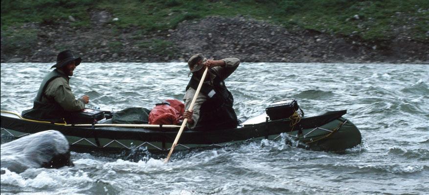 Anfahrt zu den Moskox Rapids