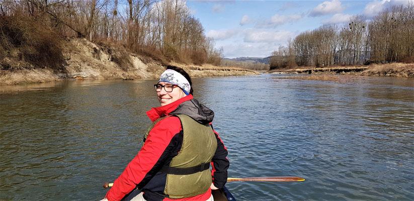 Kurz vor der Mündung des Innbachs in die Donau