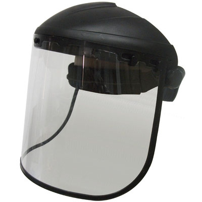 Model #201 Face Shield with PC Visor, CE EN166 Standards