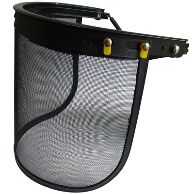 Model #202M Face Shield with Steel Mesh Assembled on Helmet, CE EN1731 Standards