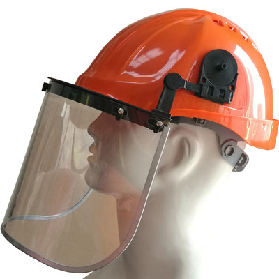 Model #203 Face Shield with PC Visor Mounted on Helmet, CE EN166 Standards