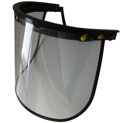 Model #202 Face Shield with PC Visor Assembled on Helmet, CE EN166 Standards