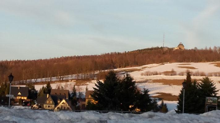 Blick auf den Schwartenberg Februar 2019 (Foto D. Mohr)