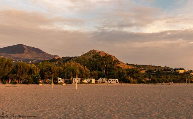 Sonnenuntergang in Cirella
