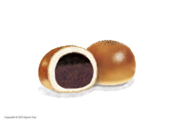 あんぱん:Bean-jam bun