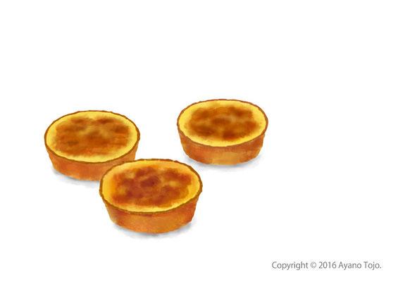 エッグタルト:egg tart